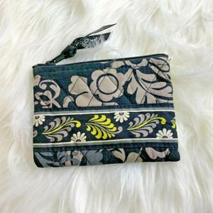 Vera Bradley Baroque Black Gray Yellow Coin purse